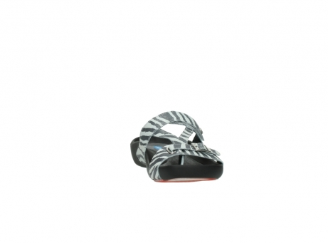wolky slippers 01010 kukana 90120 zebraprint metallic leather_18