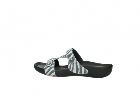 wolky slippers 01010 kukana 90120 zebraprint metallic leer_2