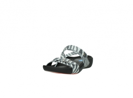 wolky slippers 01010 kukana 90120 zebraprint metallic leer_21