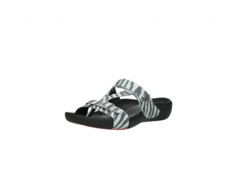 wolky slippers 01010 kukana 90120 zebraprint metallic leer_22