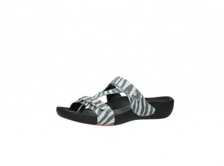 wolky slippers 01010 kukana 90120 zebraprint metallic leer_23