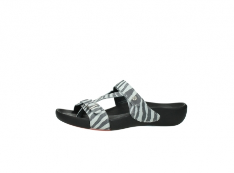 wolky slippers 01010 kukana 90120 zebraprint metallic leer_24