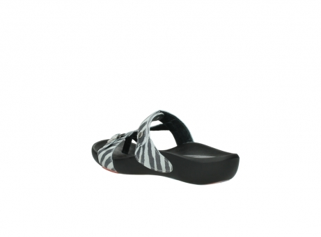 wolky slippers 01010 kukana 90120 zebraprint metallic leather_4