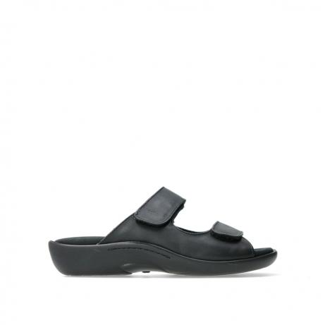 wolky slippers 01301 nepeta 30000 zwart leer