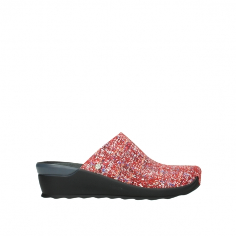 wolky slippers 02575 go 40950 rood multi suede