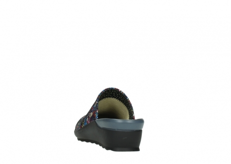wolky slippers 02575 go 40970 multi zwart metallic leer_6