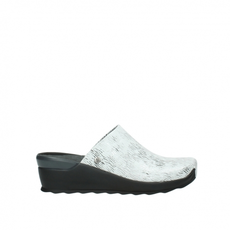 wolky slippers 02575 go 70110 wit zwart canal leer