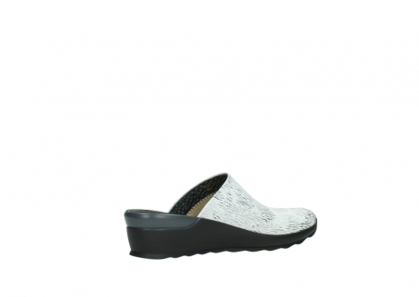 wolky slippers 02575 go 70110 wit zwart canal leer_11