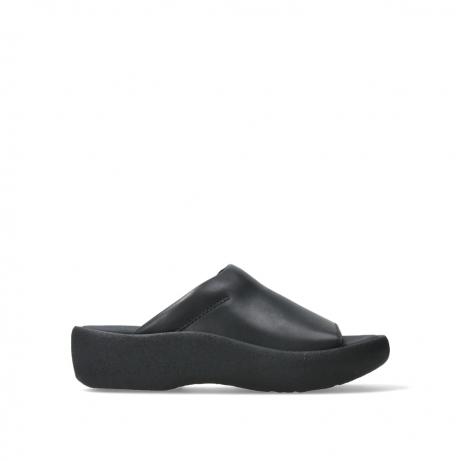 wolky slippers 03201 nassau 30000 zwart leer