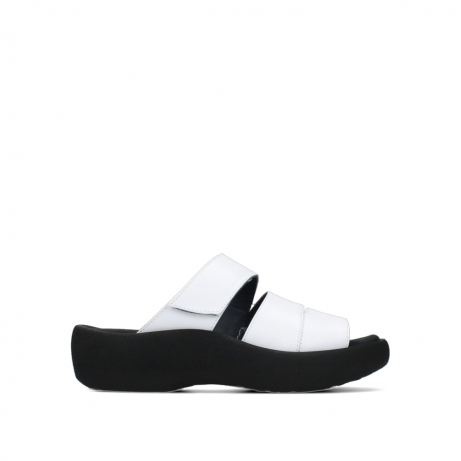 wolky slippers 03207 aporia 30100 wit leer