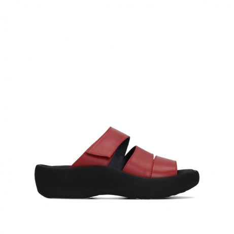 wolky slippers 03207 aporia 30500 rood leer