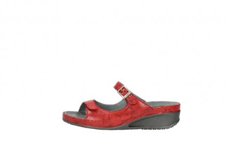 wolky slippers 0426 mundaka 650 rood kaviaarprint leer_1
