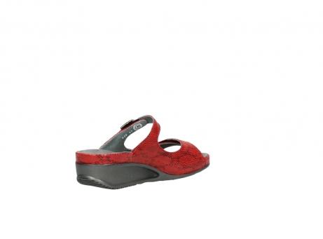 wolky slippers 0426 mundaka 650 rood kaviaarprint leer_10