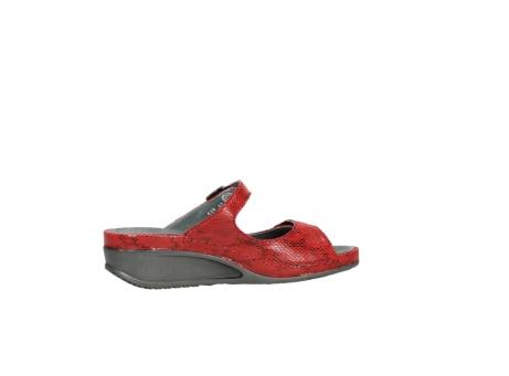 wolky slippers 0426 mundaka 650 rood kaviaarprint leer_12