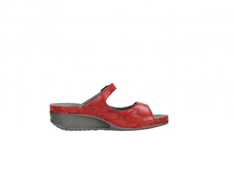 wolky slippers 0426 mundaka 650 rood kaviaarprint leer_13