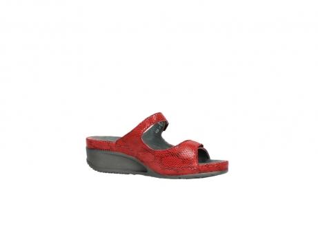 wolky slippers 0426 mundaka 650 rood kaviaarprint leer_15
