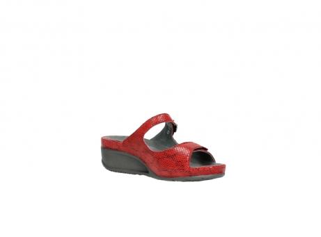 wolky slippers 0426 mundaka 650 rood kaviaarprint leer_16