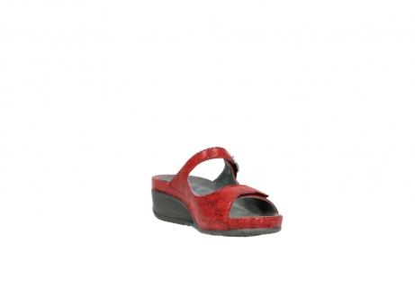 wolky slippers 0426 mundaka 650 rood kaviaarprint leer_17
