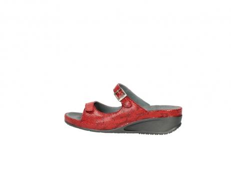 wolky slippers 0426 mundaka 650 rood kaviaarprint leer_2