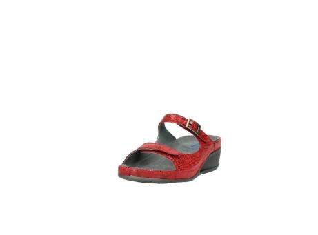 wolky slippers 0426 mundaka 650 rood kaviaarprint leer_21