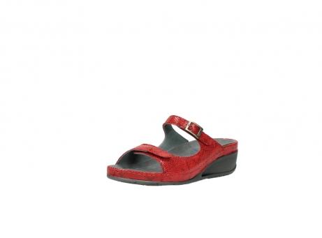 wolky slippers 0426 mundaka 650 rood kaviaarprint leer_22