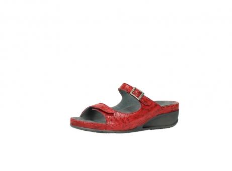 wolky slippers 0426 mundaka 650 rood kaviaarprint leer_23