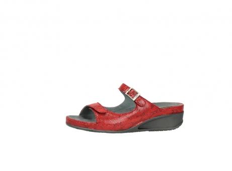 wolky slippers 0426 mundaka 650 rood kaviaarprint leer_24