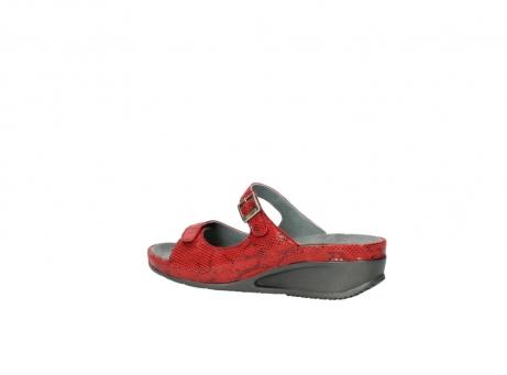 wolky slippers 0426 mundaka 650 rood kaviaarprint leer_3