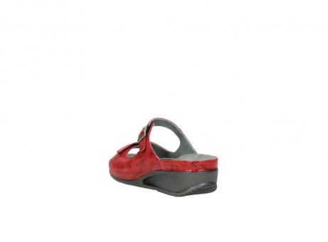 wolky slippers 0426 mundaka 650 rood kaviaarprint leer_5
