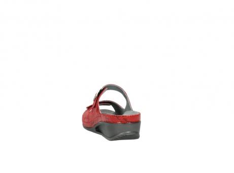 wolky slippers 0426 mundaka 650 rood kaviaarprint leer_6