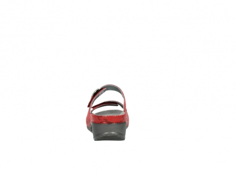 wolky slippers 0426 mundaka 650 rood kaviaarprint leer_7