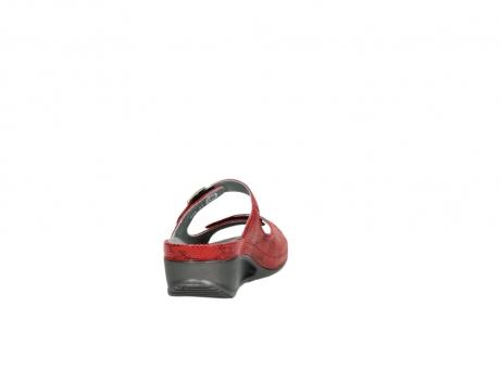 wolky slippers 0426 mundaka 650 rood kaviaarprint leer_8