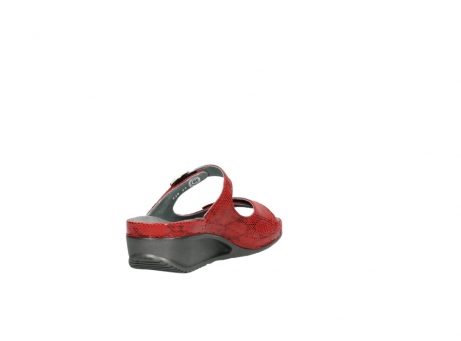 wolky slippers 0426 mundaka 650 rood kaviaarprint leer_9