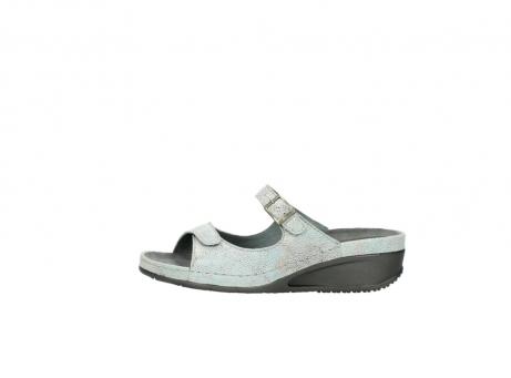 wolky slippers 0426 mundaka 679 mintgroen kaviaarprint leer_1
