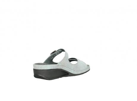 wolky slippers 0426 mundaka 679 mintgroen kaviaarprint leer_10