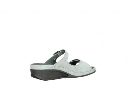 wolky slippers 0426 mundaka 679 mintgroen kaviaarprint leer_11