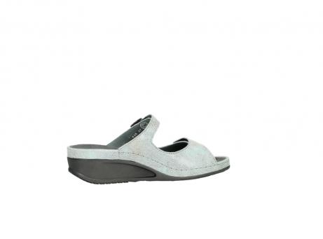 wolky slippers 0426 mundaka 679 mintgroen kaviaarprint leer_12