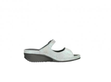 wolky slippers 0426 mundaka 679 mintgroen kaviaarprint leer_13