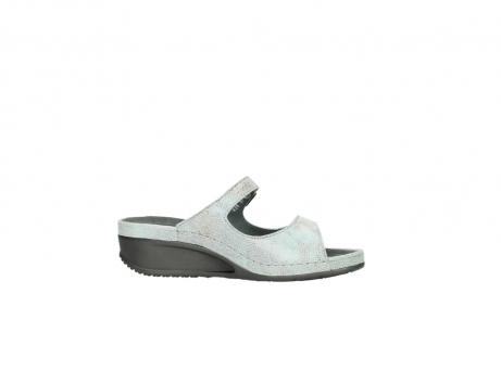 wolky slippers 0426 mundaka 679 mintgroen kaviaarprint leer_14