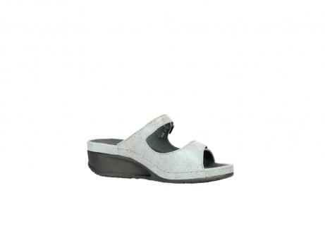 wolky slippers 0426 mundaka 679 mintgroen kaviaarprint leer_15