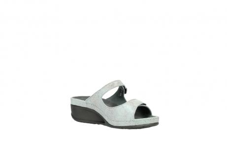 wolky slippers 0426 mundaka 679 mintgroen kaviaarprint leer_16