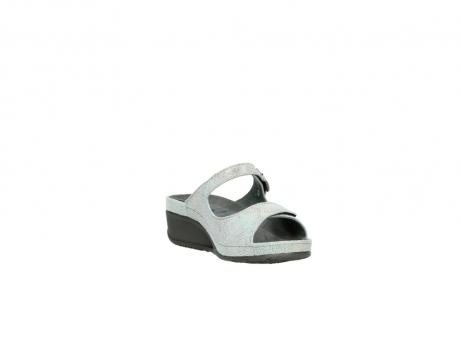 wolky slippers 0426 mundaka 679 mintgroen kaviaarprint leer_17