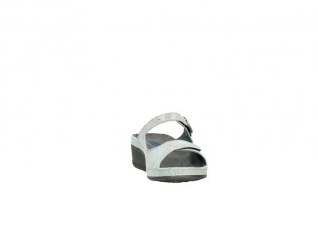 wolky slippers 0426 mundaka 679 mintgroen kaviaarprint leer_18