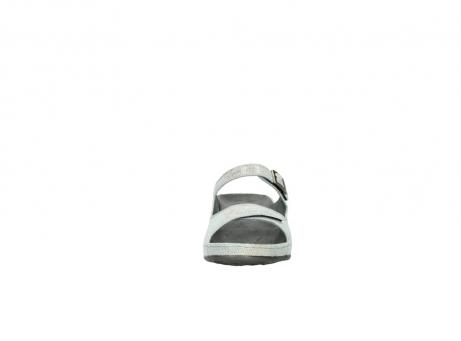 wolky slippers 0426 mundaka 679 mintgroen kaviaarprint leer_19