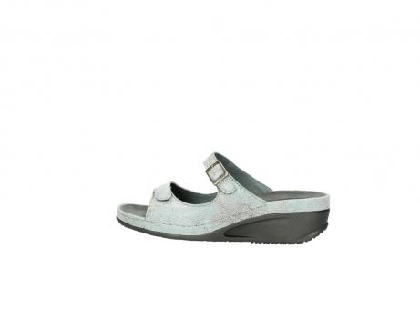wolky slippers 0426 mundaka 679 mintgroen kaviaarprint leer_2