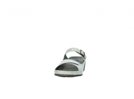 wolky slippers 0426 mundaka 679 mintgroen kaviaarprint leer_20