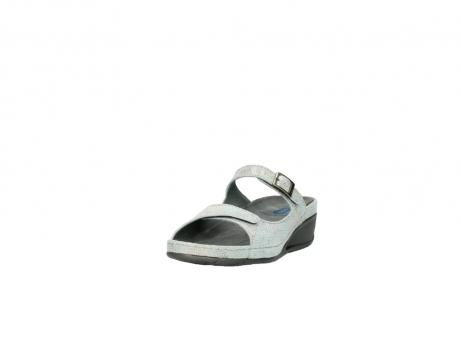 wolky slippers 0426 mundaka 679 mintgroen kaviaarprint leer_21