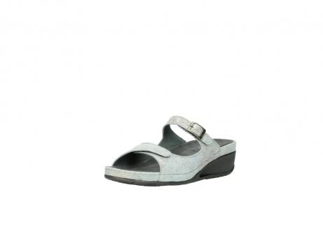 wolky slippers 0426 mundaka 679 mintgroen kaviaarprint leer_22