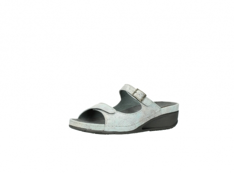 wolky slippers 0426 mundaka 679 mintgroen kaviaarprint leer_23