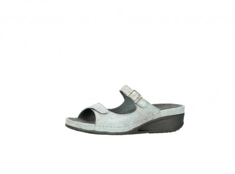 wolky slippers 0426 mundaka 679 mintgroen kaviaarprint leer_24